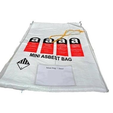 Asbestos disposal bag small